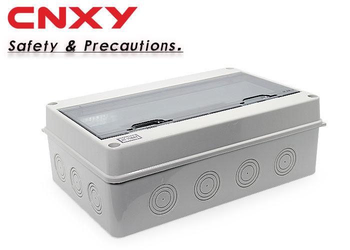 Water Resistant Plastic Circuit Box 220 / 380 Voltage With Transparent Flip